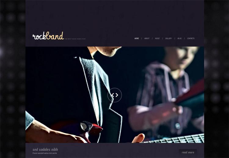 Rock Band — Адаптивный WordPress шаблон на тему Музыкальная группа