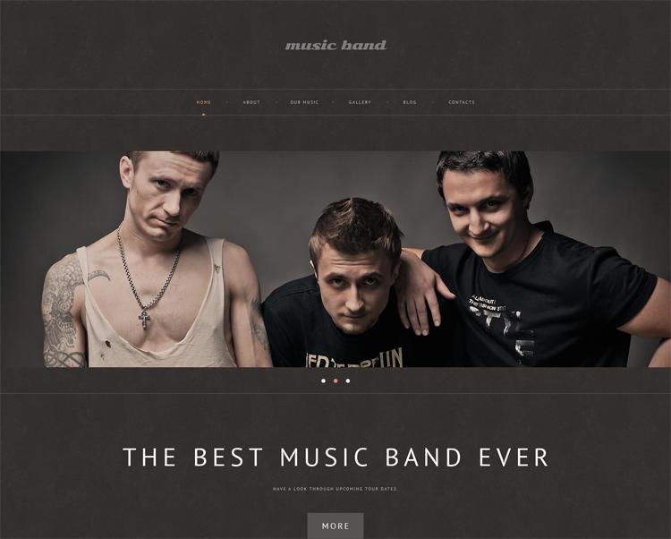 Music Band — Адаптивный WordPress шаблон для музыкальных коллективов
