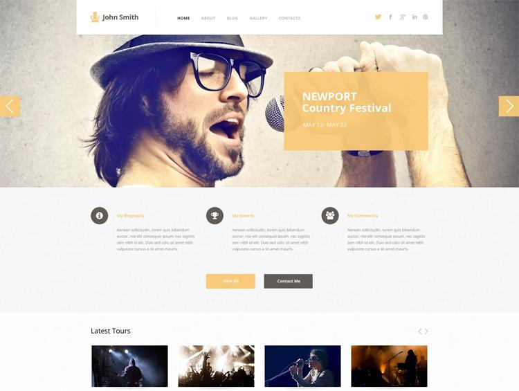 John Smith — Адаптивный WordPress шаблон для музыкальных исполнителей