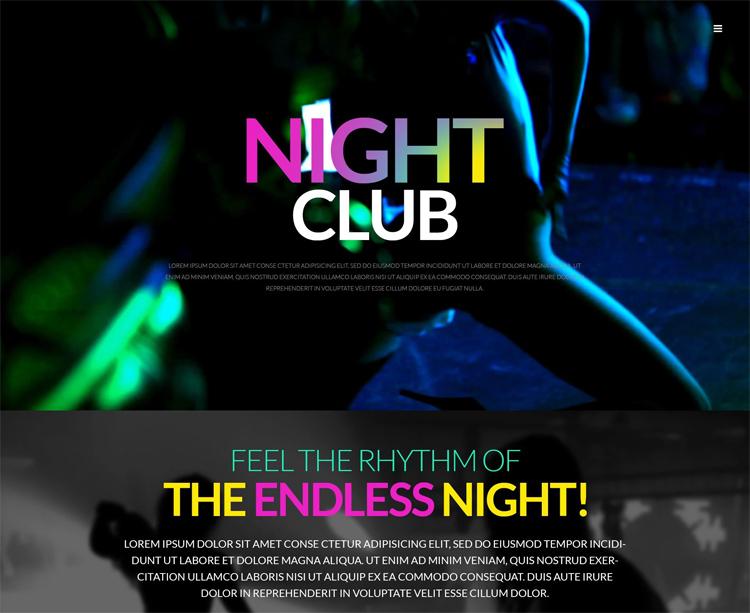 Night Club — Адаптивный WordPress шаблон для сайта ночного клуба