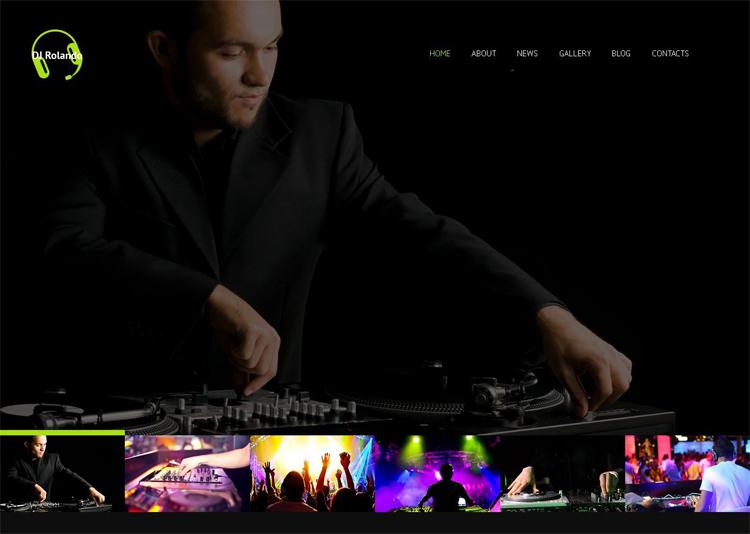 DJ Rolando — Адаптивный WordPress шаблон для диджеев