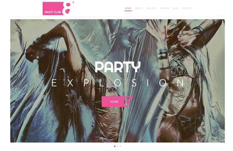 Night Club 8 — Адаптивный WordPress шаблон на тему Ночной клуб