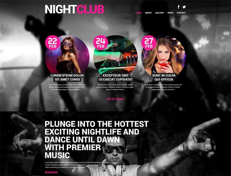 NIGHTCLUB — Адаптивный WordPress шаблон на тему Ночной клуб