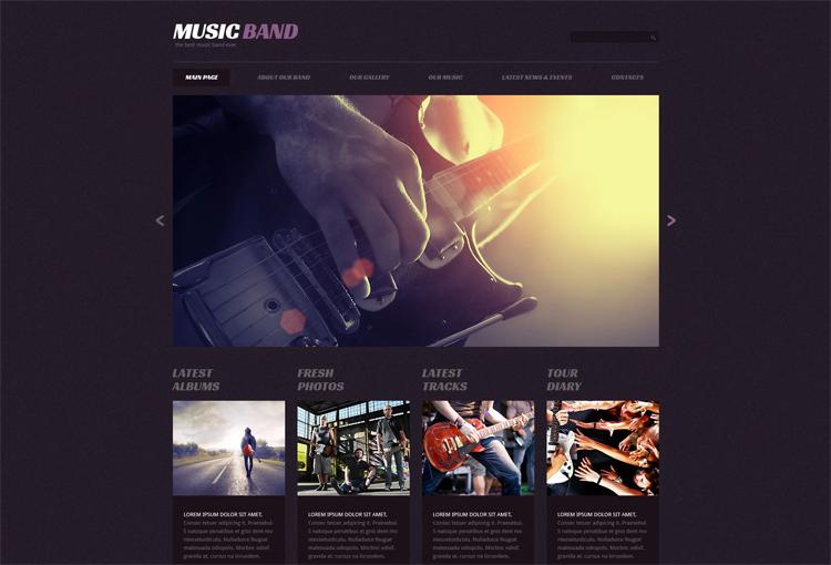 Music Band — Адаптивный WordPress шаблон на тему Музыкальная группа