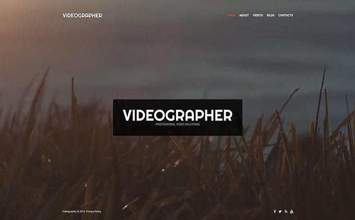 Адаптивный WordPress шаблон Videographer