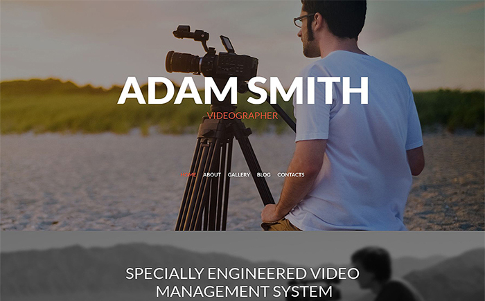 Адаптивный WordPress шаблон Adam Smith