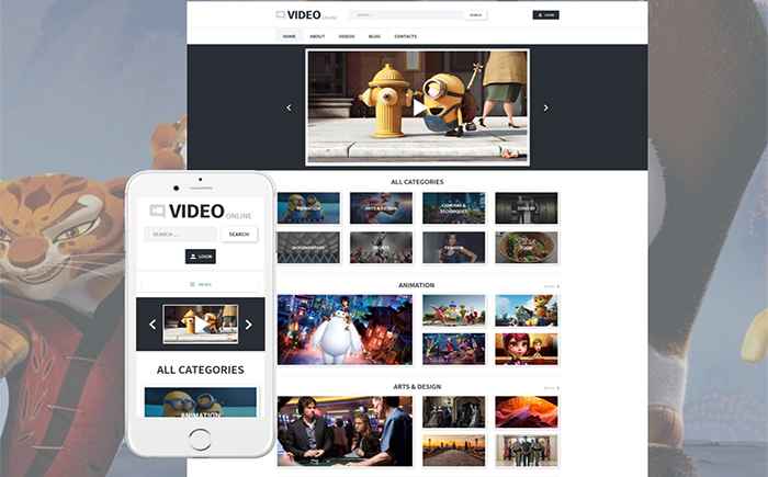 Адаптивный WordPress шаблон Video
