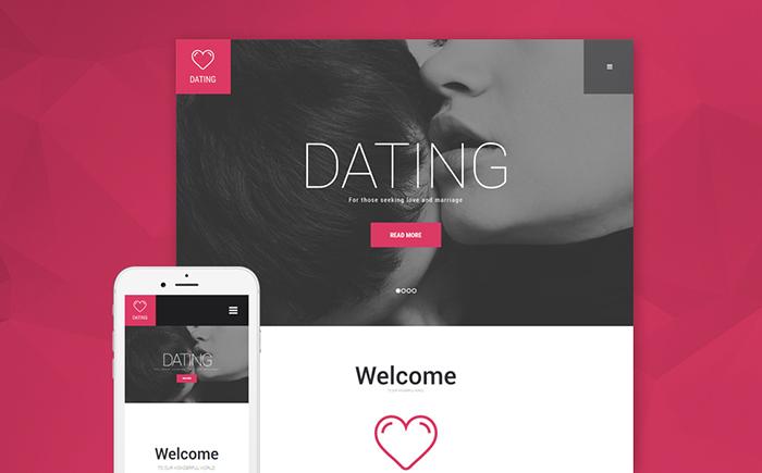 Адаптивный WordPress шаблон Dating