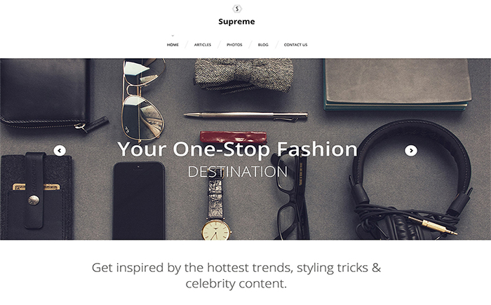 WordPress шаблон Supreme