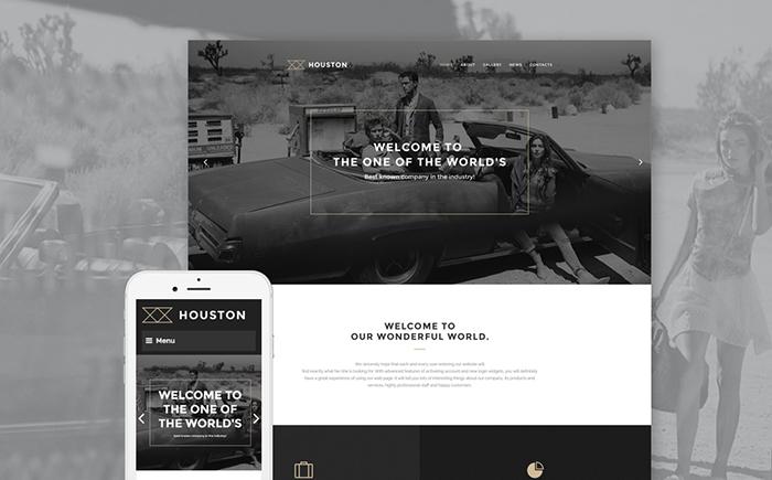 Адаптивный WordPress шаблон Houston