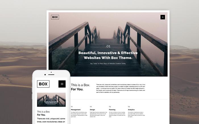 Адаптивный WordPress шаблон Box