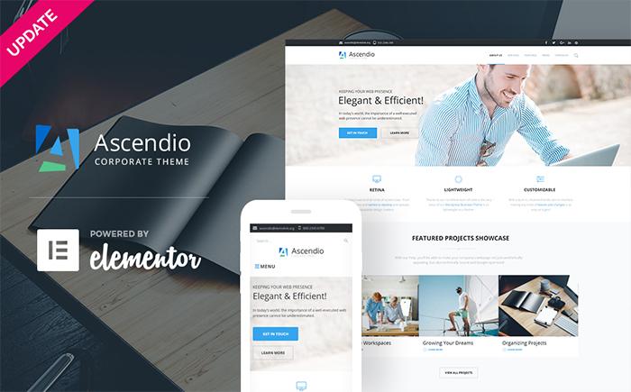 WordPress шаблон Ascendio