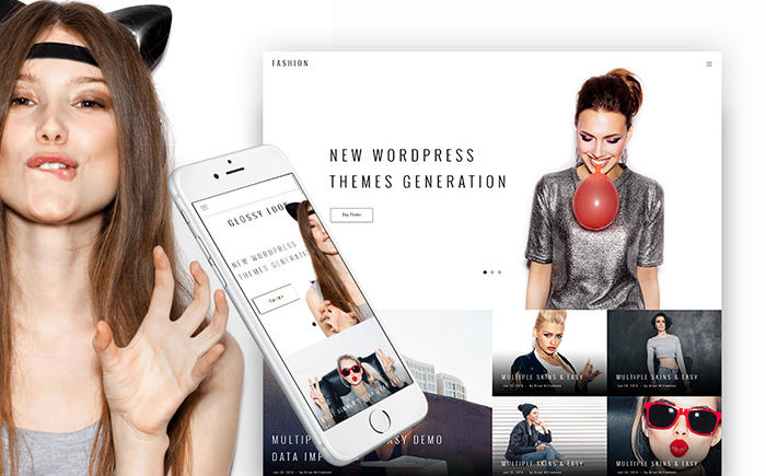 WordPress шаблон Glossy Look