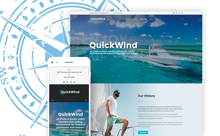 Адаптивный WordPress шаблон QuickWind