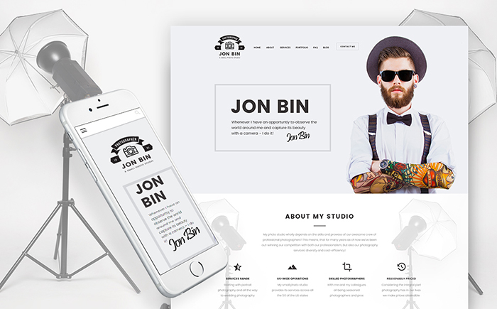WordPress шаблон Jon Bin