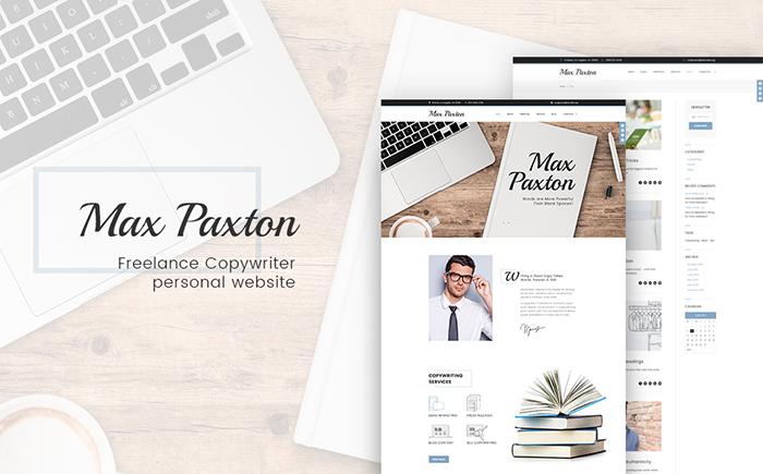 Адаптивный WordPress шаблон MaxMaxton