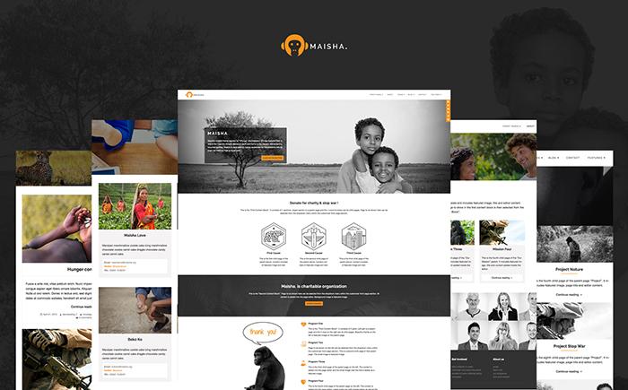Адаптивный WordPress шаблон Maisha