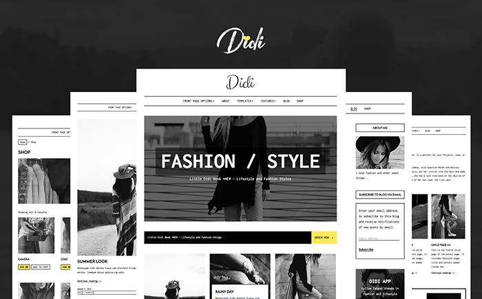 Адаптивный WordPress шаблон Didi