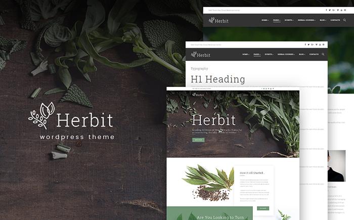 Адаптивный WordPress шаблон Herbit