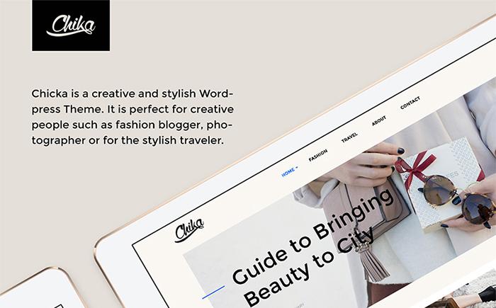 Адаптивный WordPress шаблон Chika