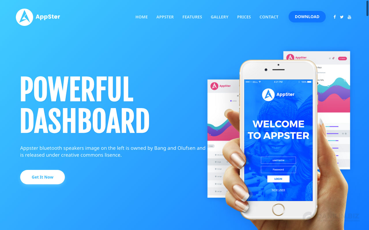 Appster — Mobile App Landing WordPress Theme