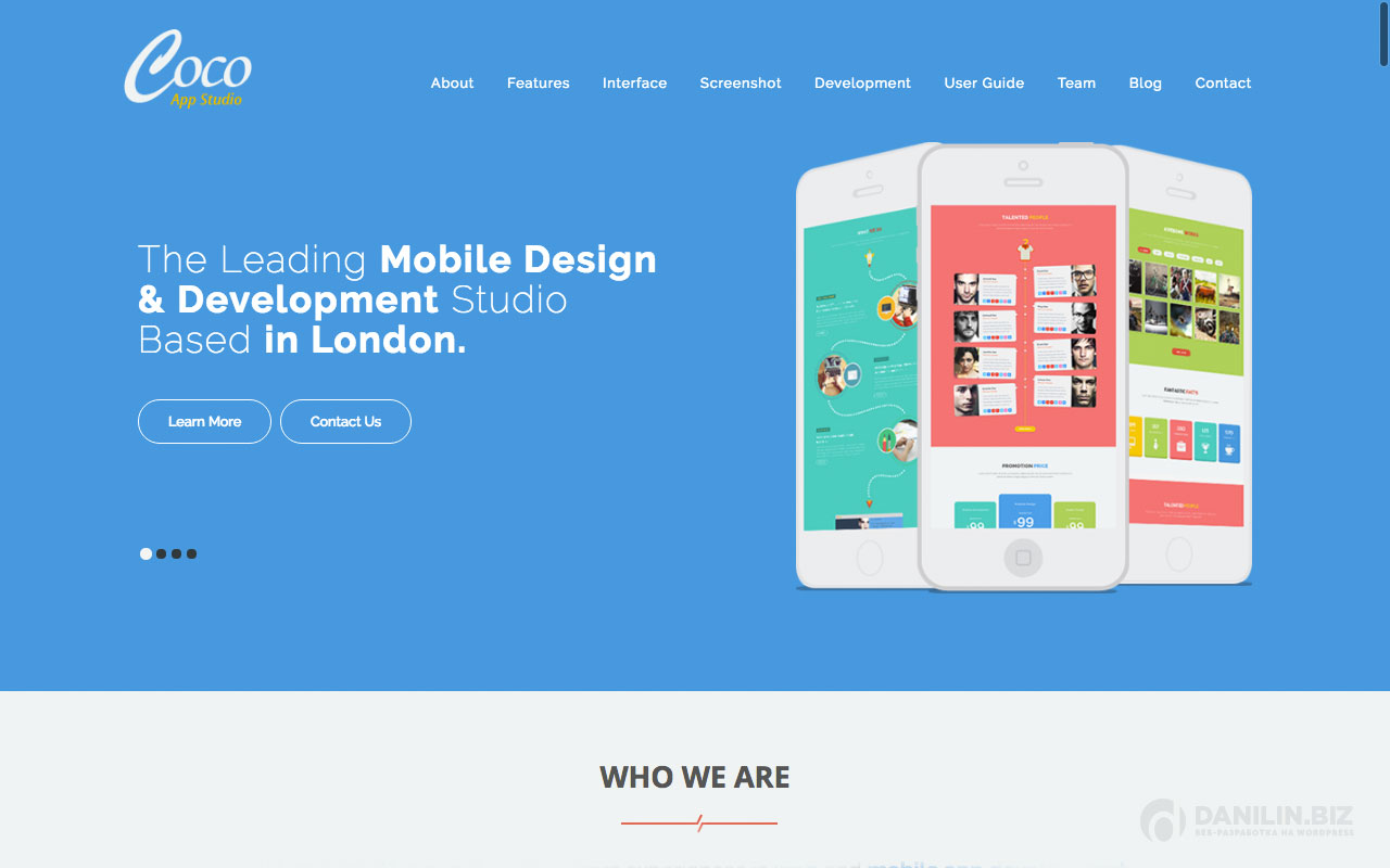 Coco — The One Page Multi-Purpose Landing WordPress Theme