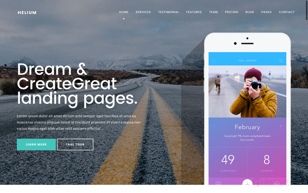 Helium — 10 in 1 Marketing WordPress Theme