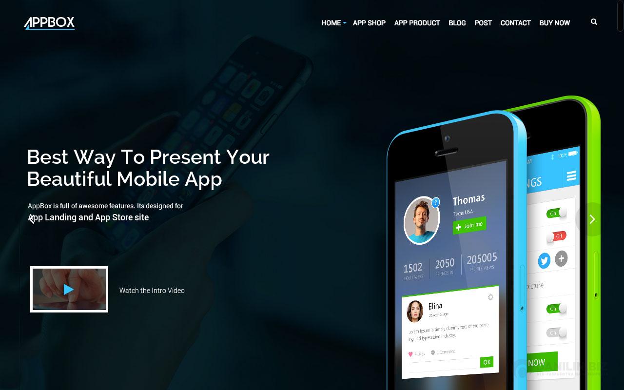 AppBox — App Landing & App Store WordPress Theme