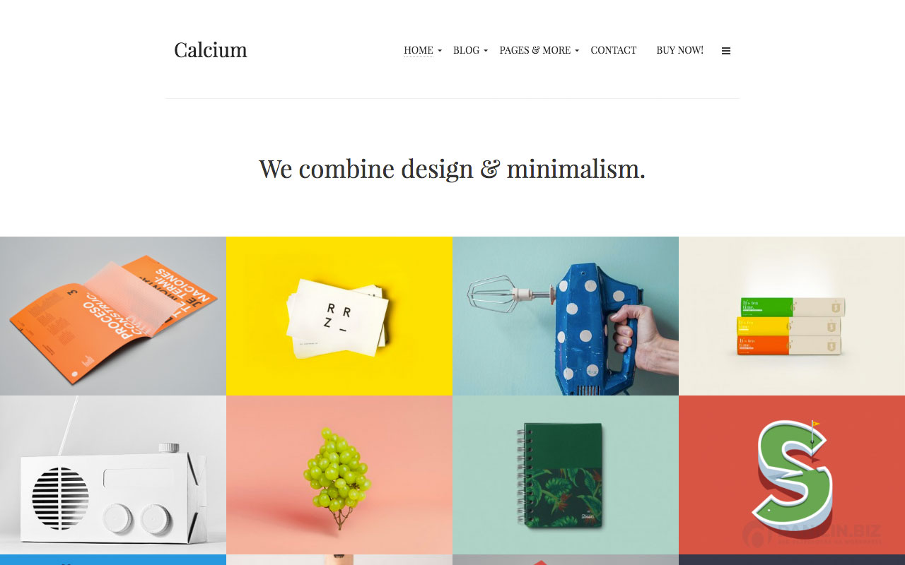 Calcium — тема Вордпресс