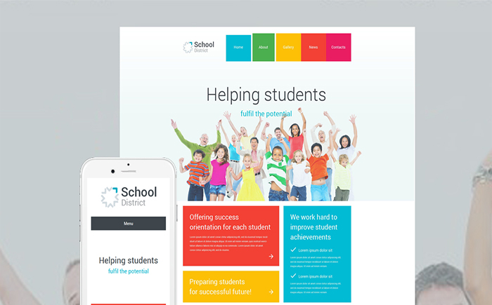 School District WordPress Theme