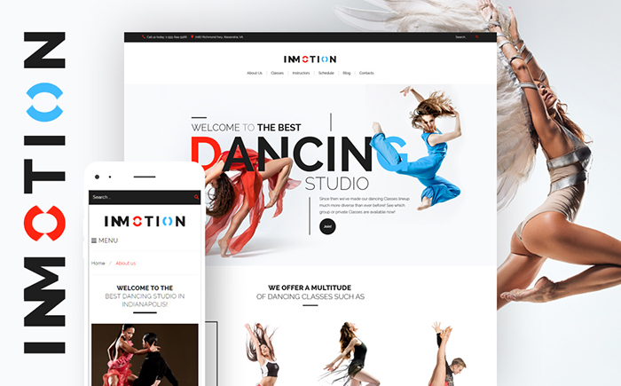 InMotion — Dance School WordPress Theme