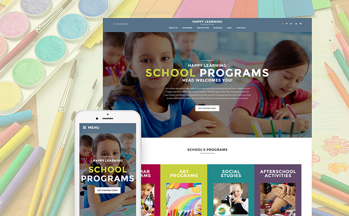 Happy Learning — Primary School WordPress Theme