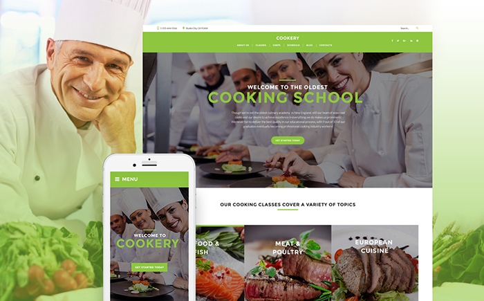 Cooking — Culinary School Responsive WordPress Theme