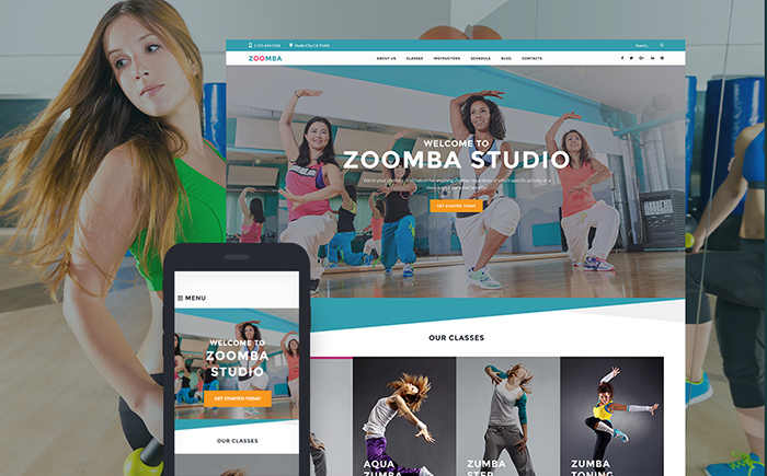 Zoomba — Zoomba Dance Studio WordPress Theme