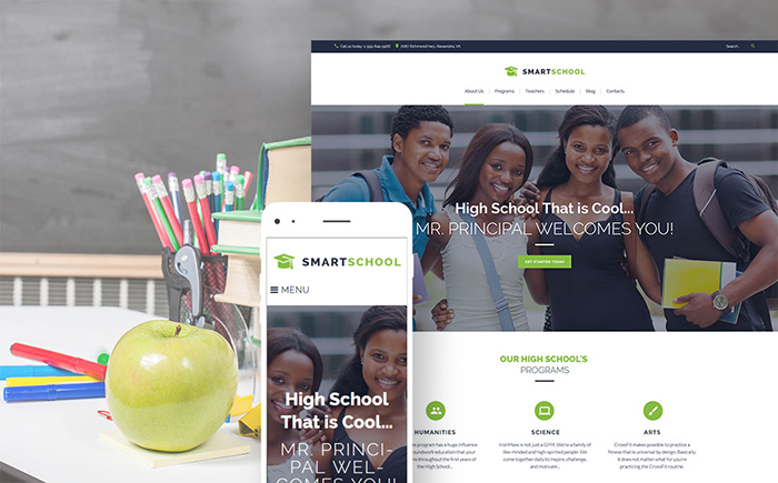 Smart School — High School Education Responsive WordPress Theme