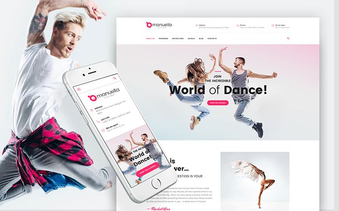 Emanuella — Dance School Responsive WordPress Theme