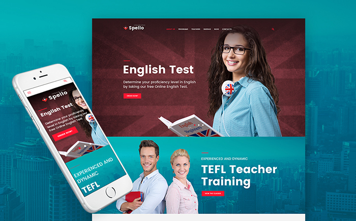 Spello — Language School WordPress Theme