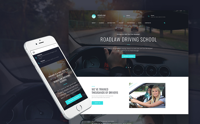 RoadLaw — Driving School Responsive WordPress Theme WordPress Theme
