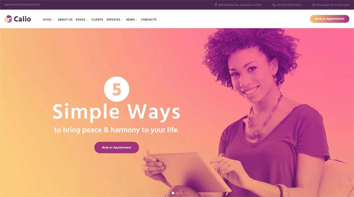Бесплатный адаптивный WordPress шаблон на тему «Психология»