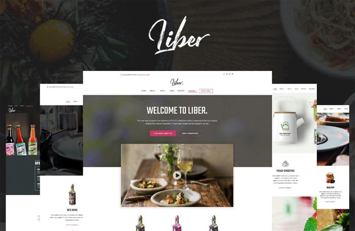 Liber — Адаптивный WordPress шаблон для ресторана/бара