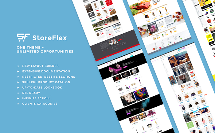 OpenCart шаблон Storeflex