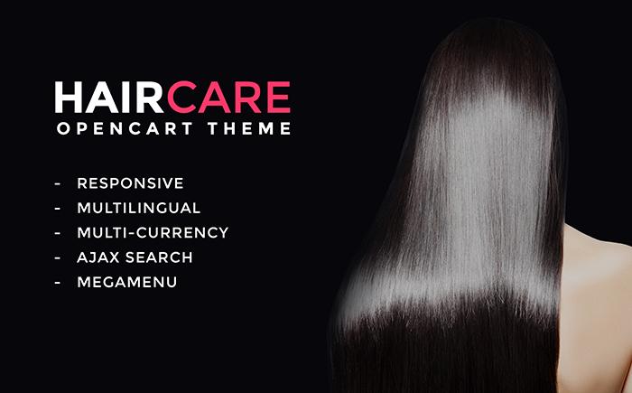 Адаптивный OpenCart шаблон №63695 на тему парикмахерская