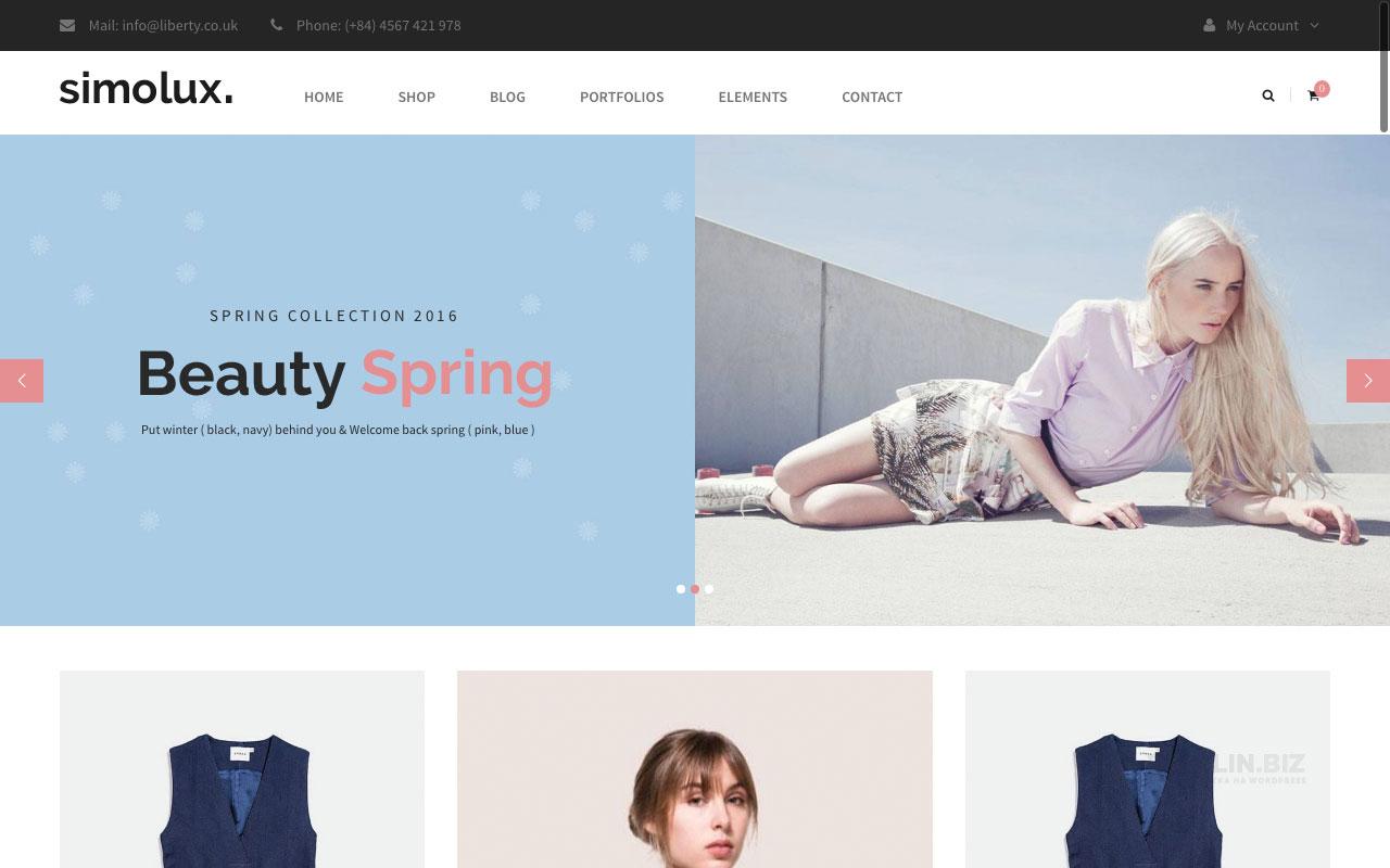 Шаблон интернет-магазина на Вордпресс: Simolux — WooCommerce Responsive Theme