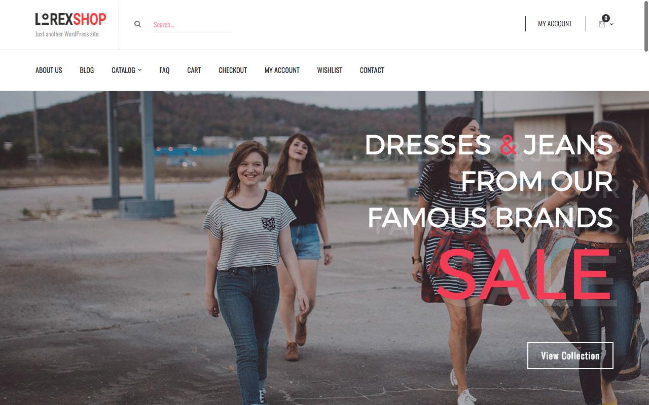 Шаблон интернет-магазина на Вордпресс: Lorex – Multipurpose WooCommerce WordPress Theme