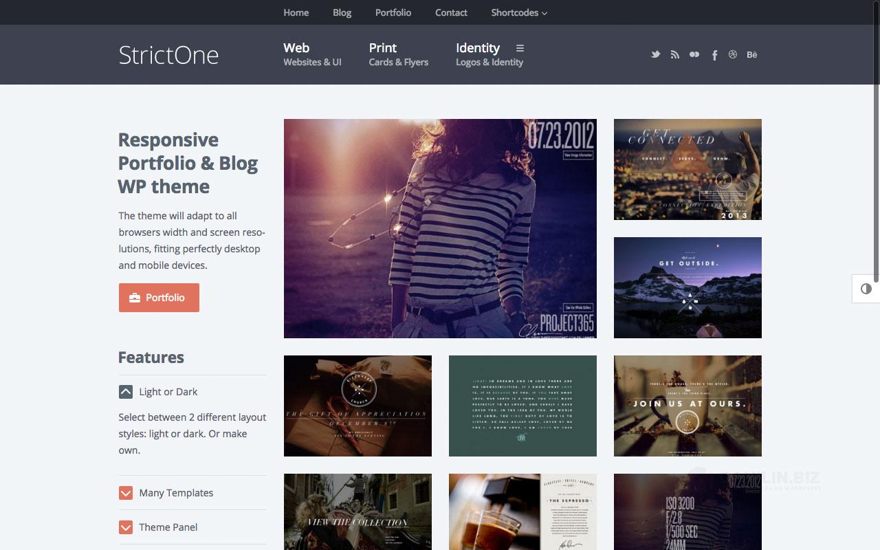StrictOne — креативное портфолио и блог