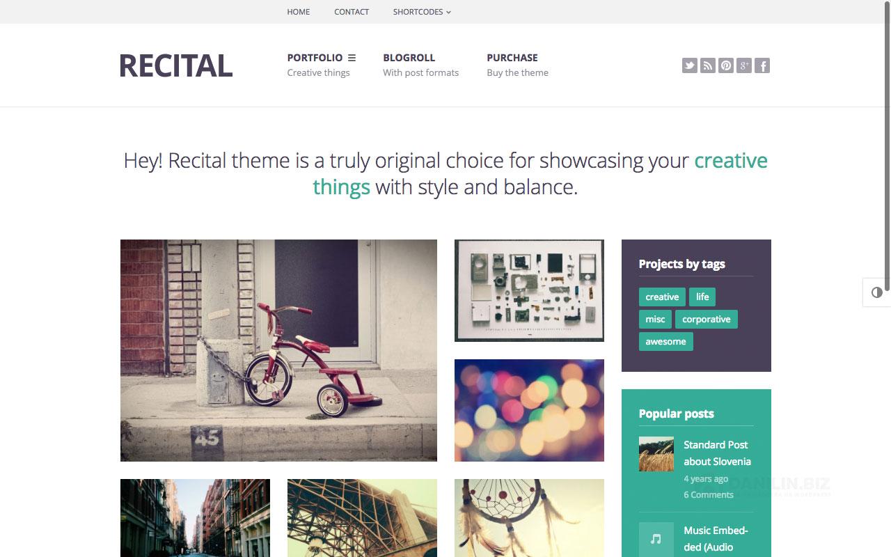 Recital — креативное портфолио и блог