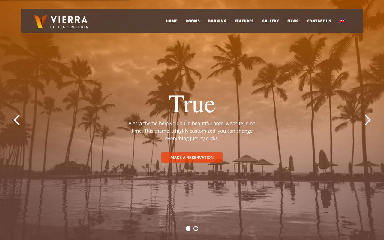 Vierra — сайт отеля