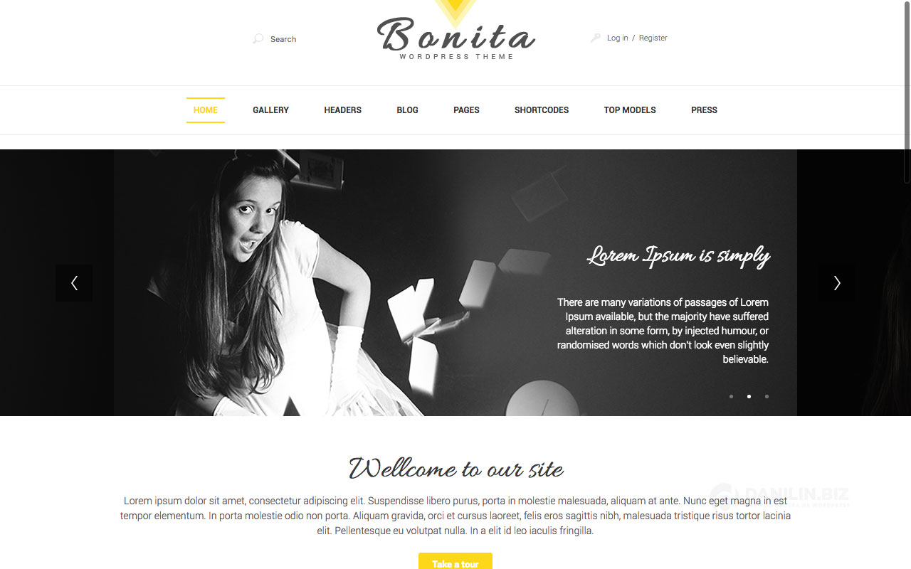Bonita — адаптивная тема