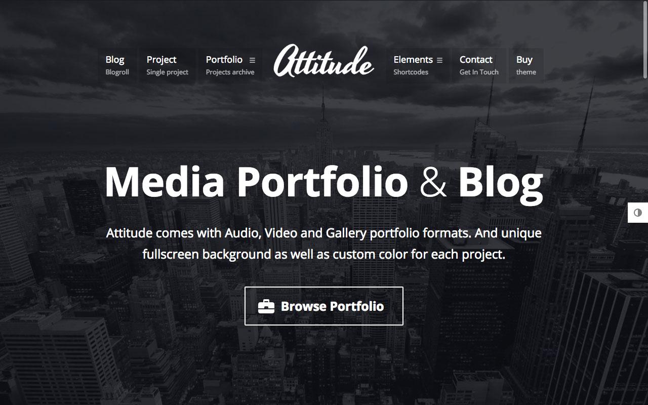 Attitude — мультимедийное портфолио