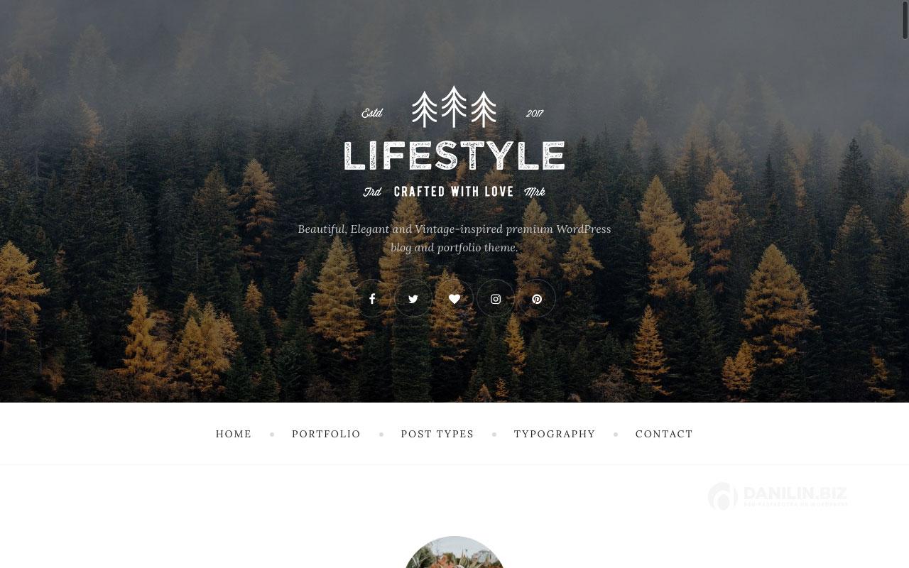 The Lifestyle — винтажная блоговая тема